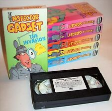 Brande New! Vintage Inspector Gadget Set of 6 Vhs Video Cassettes by Maier Group