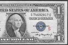 1935A $1 SC  ♔♔ S NOTE ♔♔  VERY BRIGHT&CRISP