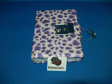 NEW PURPLE ANIMAL PRINT DIARY WITH A BUILT IN LOCK AND 1 KEY FREE SHIPPING