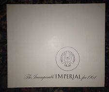 1964 Chrysler Imperial Catalog Brochure Crown LeBaron Factory Original Estate 64