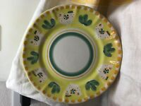 "1 SOLIMENE VIETRI CHICKEN YELLOW DINNER PLATE - MADE IN ITALY 10"" DIAMETER"