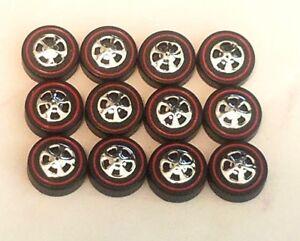 Hot Wheels Redline REPRO WHEELS Medium Black Cap Set of 12 -New Mold!