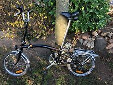 Brompton Faltrad Schwarz Dreigangschaltung
