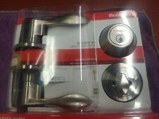 HONEYWELL 2.5 in. Satin Nickel Wave Lever Door Lock Combo Kit