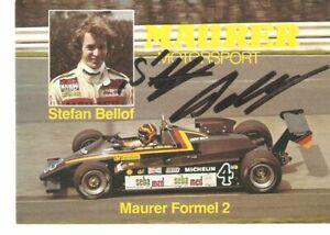 Stefan  BELLOF  Autogrammkarte mit orig. Unterschrift