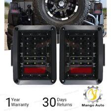 07-17 Jeep Wrangler LED Tail Light JK Rear Black Brake Reverse Turn Signal Lamp