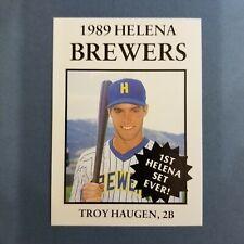 1989 Sports Pro HELENA Brewers #7 TROY HAUGEN Salem OREGON