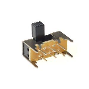 25Pcs SK22H03 6mm High Side Knob 6 Pin 2 Position DPDT Slide Switch 0.5A 50VAC