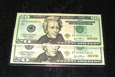 2004 Uncirculated $20. Notes - # 1463 to 1464 - Atlanta - 2 In Sequence