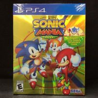 Sonic Mania Plus (Launch Edition) (Sony PlayStation 4, 2018) BRAND NEW