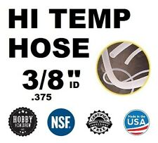 "HIGH TEMP SILICONE TUBING  3/8"" .375 ID TUBE HOME BREWING KETTLE HOSE PER FOOT"