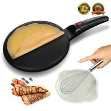 """NutriChef PKCRM08 Electric Griddle - Crepe Maker Hot Plate Cooktop, 8"""" Pan Style"""