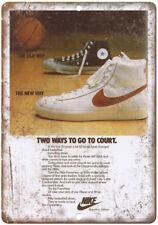 "Nike NBA Blazer Bruin Vintage Sneaker Ad 10"" X 7"" Reproduction Metal Sign ZE45"