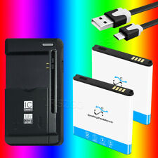 2x 3150mAh EB-L1D7IBA Battery Dock Charger Cable for Samsung Galaxy S2 SGH-T989