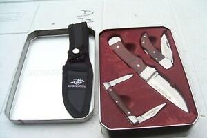 3 Winchester Wood Handled Knives in Gift Tin ,  NEW !!!