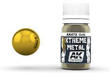 AK Interactive AKI-472 Xtreme Metal Gold Metallic Paint 30ml Bottle