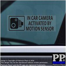 5 X en coche cámara activada Pegatinas De Sensor De Movimiento-Negro-grabación de CCTV-Coche, Furgoneta