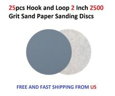 25pcs Hook and Loop 2 Inch 2500 Grit Sand Paper Sanding Discs