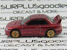 Hot Wheels 1:64 LOOSE Maroon 1998 SUBARU IMPREZA STi Custom SUPER w/Real Riders