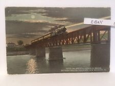 1915 Prr Bridge Between Beaver Falls New Brighton Pennsylvania Pa. Rare Postcard