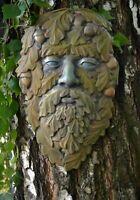 Mold GREEN MAN FACE PLAQUE Old Man Tree wood spirit faces Greenman D31