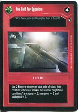 Star Wars CCG Hoth Black Border Too Cold For Speeders