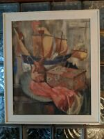 Vintage 1965 ROBINSON MURRAY Mid-Century Abstract Painting Boston Impressionist