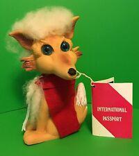 """Vintage Wiley Fox 6.5"""" Animal Troll W/Passport Coin Sticker Leprechaun LTD Rare"""