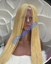 Full Micro Million braids Lace Wig - GOLD Blonde - African Handmade