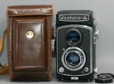 Yashica A TLR camera with 80mm f3.5 Yashikor lens with case -Tested - Nice Ex++!