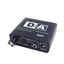 Digital to Analog Audio Amplifier Converter Box Adapter Optical Coaxial Toslink