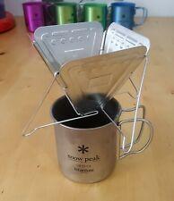[US seller] Snow Peak Folding Coffee Dripper_CS-113 & Titanium Mug 450_MG-043R