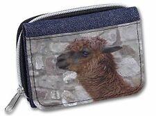 South American Llama Girls/Ladies Denim Purse Wallet Christmas Gift Idea, AL-4JW
