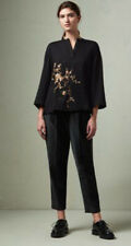TOAST 12 14 Black Matte Cotton Velvet Trousers £165