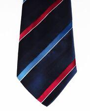 Canda Irish tie Striped Navy blue burgundy blue white vintage 1980s 1990s C&A