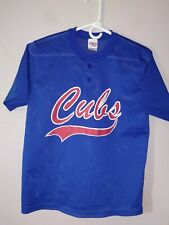 Vintage MLB Chicago Cubs Baseball Shirt Mesh Jersey Youth Boys Girls Never Worn