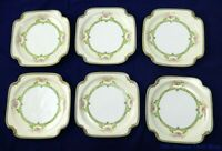 "Six Vintage Retired Noritake Floreal 7 1/2"" x 7 1/2"" Salad or Bread Plates"
