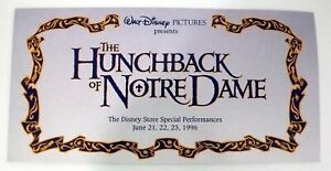 Disney's Hunchback of Notre Dame - Special Disney Store Lithograph - 1996 - New