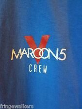 Maroon 5 Local Crew Concert T Shirt 2016 V World Tour Backstage Swag Five