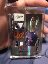 HASSAN WHITESIDE 10-11 ABSOLUTE TRIPLE PRIME PATCH AUTO ROOKIE RC 5/5 LAST 1/1