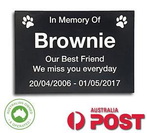 Personalised Pet Memorial Plaque Dog Cat Animal Engraved 14.5 x 10 cm | Aus Post