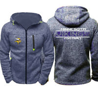 Football Team Minnesota Vikings Fan's Hoodie Zip Up coat Classic Sweatshirt Gift