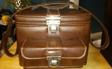RARE VINTAGE LEATHER CAMERA BAG W/ STRAP AND OTHER ACCESSORIES FOR NIKON CAMERA