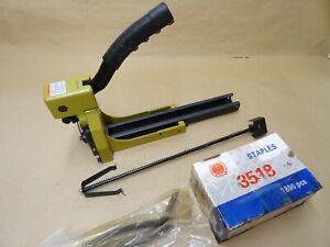Industrial Manual Top Box Cardboard Stapler Including HB3518 35mm Staples Unused