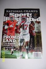 2016 Sports Illustrated ALABAMA CRIMSON TIDE National CHAMPIONS NewsStand No Lab