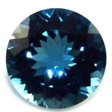 NATURAL ROUND-CUT LONDON-BLUE TOPAZ AWESOME LOOSE GEMSTONES  4.1 x 4.1 mm