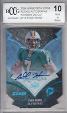 2008 UD Icons Rainbow Die Cut 113 rc CHAD HENNE rookie AUTOGRAPH /25 bgs BCCG 10