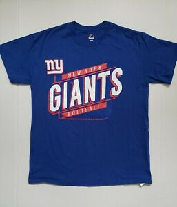 NFL New York Giants Big Spell Out Majestic Football T Shirt Size Meduim
