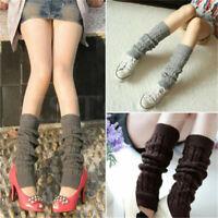 Women Crochet Knitted Leg Warmers Cuffs Toppers Boot Socks Winter Warm Socks QK
