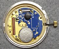 Watch movement, working order, no dial, calibre eta 955.412. 2 stage crown.